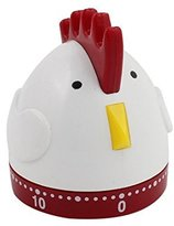 DealMux 2.4x2.4x2.8-Inch 60-Minutes Mechanical Kitchen Cartoon Chicken Timer Durable Plastic