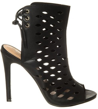 Miss Diva High Heel Shoe Boot With Open Toe And Back