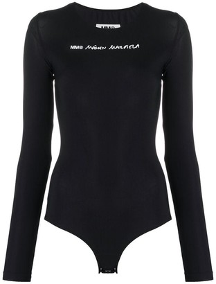MM6 MAISON MARGIELA Logo Long-Sleeve Bodysuit