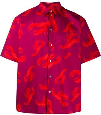 MSGM Lobster-Print Short Sleeves Shirt