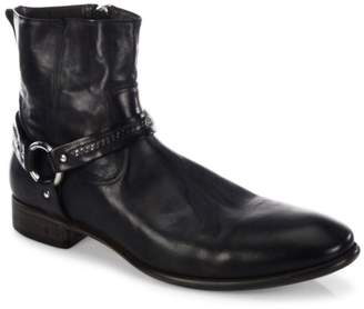 John Varvatos Eldridge Harness Leather Ankle Boots