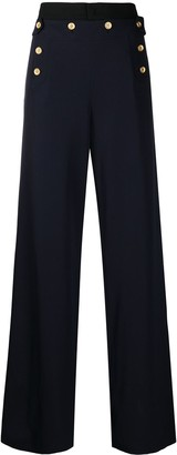 Ports 1961 Buttoned Wide-Leg Trousers