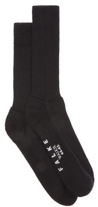 Falke Walkie Ergo Wool-blend Socks - Black