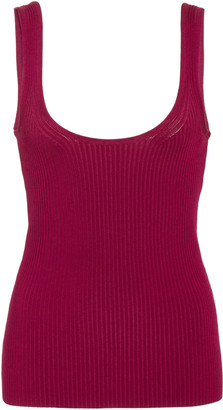 Zimmermann Wavelength Ribbed-Knit Tank Top