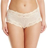 Lunaire Women's Plus-Size Whimsy Barbados Mesh Boyshort Panty