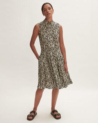 Jigsaw Sketch Geo Polo Short Dress