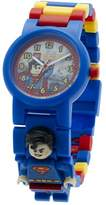 Lego DC Comics 8020257 Super Heroes Kids Minifigure Link Buildable Watch | blue/red | plastic | 28mm case diameter| analog quartz | boy girl | official