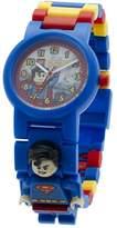 Lego DC Comics 8020257 Super Heroes Kids Minifigure Link Buildable Watch | blue/red | plastic | 28mm case diameter| analog quartz | boy girl | official