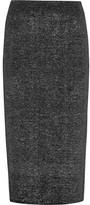 Jil Sander Metallic Stretch-wool Skirt - Silver