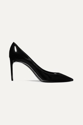 Saint Laurent Zoe Patent-leather Pumps - Black