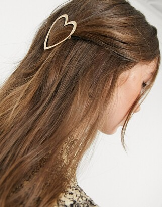 And other stories & abstract hair clip in gold