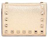 Valentino Garavani Rockstud metallic leather wallet