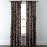 Liz Claiborne Gallery Scroll Rod-Pocket Curtain Panel