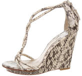 Brian Atwood Embossed Knot Wedges