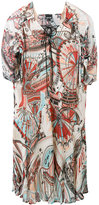 Just Cavalli printed flared dress - women - Viscose - 38
