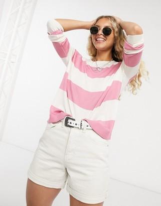 Vero Moda round neck sweatshirt in stripe