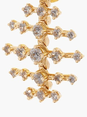 Fernando Jorge Mini Disco 18kt Gold & Diamond Earrings - Gold