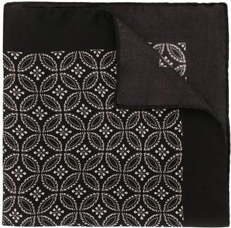 Dolce & Gabbana Geometric Print Silk Pocket Square