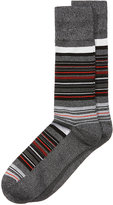 Perry Ellis Men's Heathered Striped Dress Socks