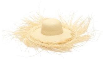 Greenpacha Ibiza Fringed Toquilla-straw Hat - Womens - Beige
