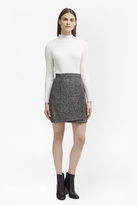 French Connection Rupert Tweed Wrap Mini Skirt