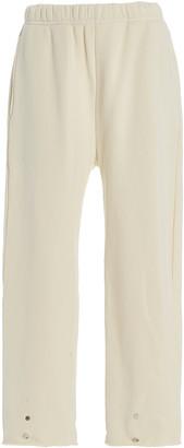 LES TIEN Snap-Front Cotton Sweatpants