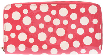 Louis Vuitton Red Monogram Vernis Kusama Dots Infinity Zippy Wallet