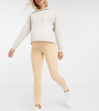 Missguided Maternity leggings in camel