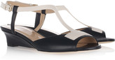 Bally Monica two-tone leather wedge sandals