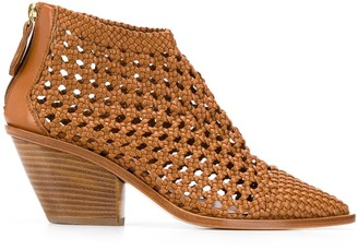 AGL Woven Pointed Boots