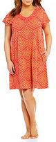 Kate Landry Casuals Plus Ikat Geometric Dot Patio Dress