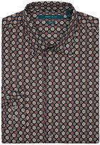 Perry Ellis Slim Fit Geometric Floral Shirt
