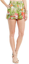 GB Palm Print High Waist Shorts