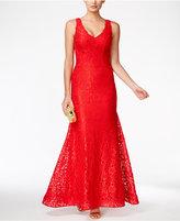 Xscape Evenings Lace V-Neck Mermaid Gown