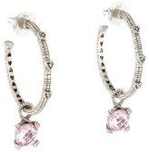 Judith Ripka Diamond & Crystal Hoop Earrings