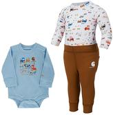 Carhartt Brown & Blue Tractor Bodysuit Set - Infant