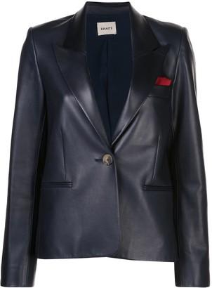 KHAITE Brita single-breasted blazer