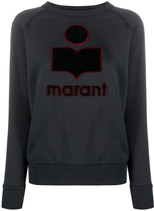 Etoile Isabel Marant Long Sleeve Embroidered Logo Jumper