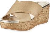 Donald J Pliner Savee Metallic Wedge Sandal