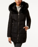 Ivanka Trump Faux-Fur-Trim Hooded Down Puffer Coat