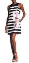 Rachel Roy Printed Twill Trapeze Mini Dress