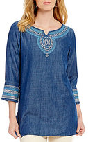 ZOZO Embroidered Denim Tunic