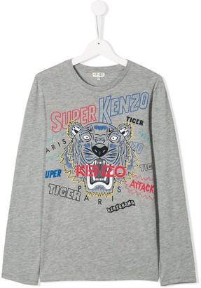 Kenzo TEEN tiger logo top