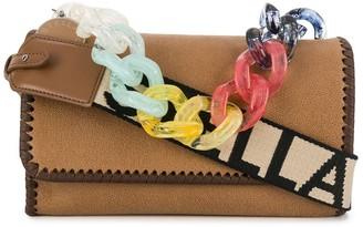 Stella McCartney Falabella rainbow chain shoulder bag