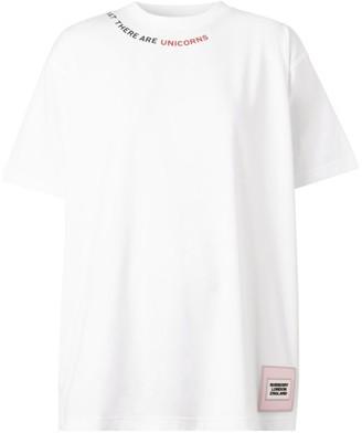 Burberry Unicorns Slogan T-Shirt