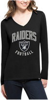 '47 Women's Oakland Raiders Splitter Arch Long-Sleeve T-Shirt