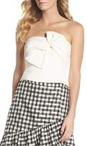 Eliza J Strapless Bow Crepe Top