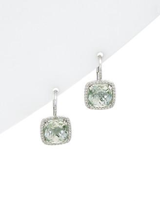 Diana M 14K 5.18 Ct. Tw. Diamond & Amethyst Earrings