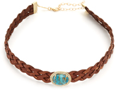 Jacquie Aiche Braided Leather Choker Necklace