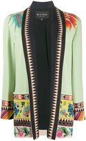 Etro floral embroidered open blazer